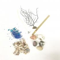 材料包(含貝殼.米貝.海樹.燭蕊.琉璃)